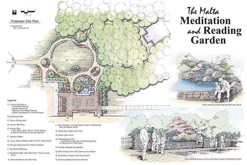malta reading garden site plan