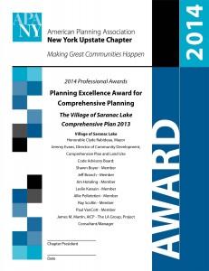 APA NYU Award Certificate