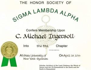 Sigma Lambda Alpha Membership